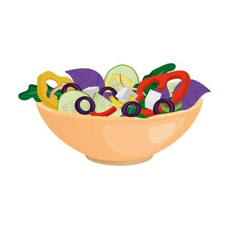 Vegetable salad vector icon.Cartoon vector icon isolated on white background vegetable salad. Ilustracja