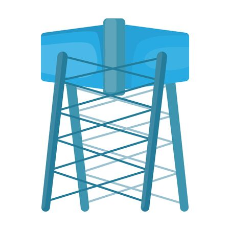 Water tower vector icon.Cartoon vector icon isolated on white background water tower.  イラスト・ベクター素材