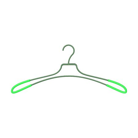 Hanger vector icon.Cartoon vector icon isolated on white background hanger.