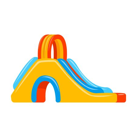 Inflatable slide vector icon.Cartoon vector icon isolated on white background inflatable slide.