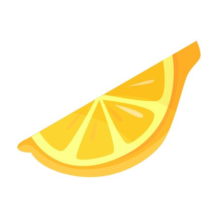 Lemon vector icon.Cartoon vector icon isolated on white background lemon.