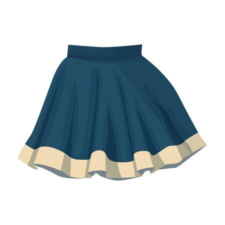 Skirt vector icon.Cartoon vector icon isolated on white background skirt. Illustration