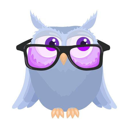 Owl vector icon.Cartoon vector icon isolated on white background owl.
