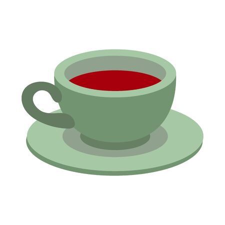 Vector design of coffee and cup sign. Graphic of coffee and hot stock symbol for web.
