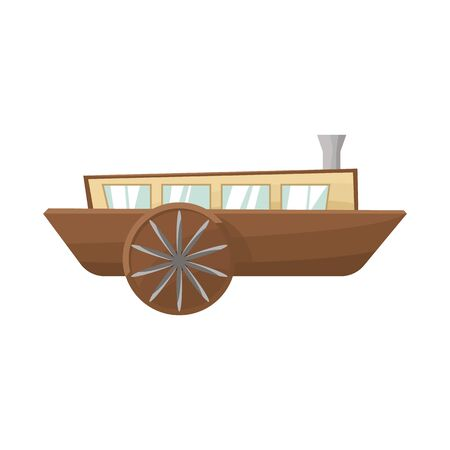 Vector illustration of wagon and carriage icon. Web element of wagon and old vector icon for stock.