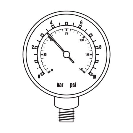Barometer vector icon.Outline vector icon isolated on white background barometer .