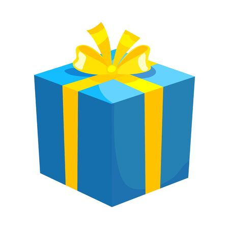 Vector illustration of gift and box symbol. Graphic of gift and surprise vector icon for stock. Vecteurs
