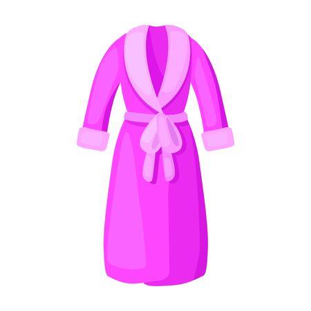 Bathrobe vector icon.Cartoon vector icon isolated on white background bathrobe.