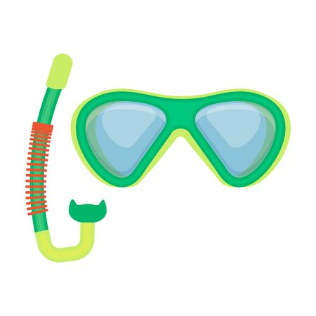 Scuba mask vector icon.Cartoon vector icon isolated on white background scuba mask.