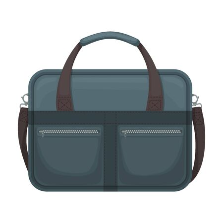 Men bag vector icon.Cartoon vector icon isolated on white background men bag. Ilustracja