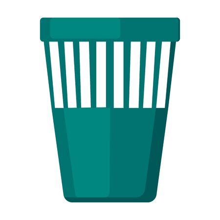 Trash box vector icon.Cartoon vector icon isolated on white background trash box.