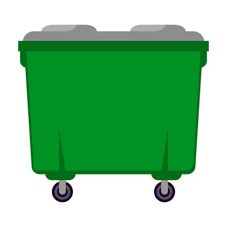 Trash can vector icon.Cartoon vector icon isolated on white background trash can. Illustration