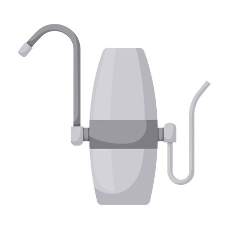 Filtration tank vector icon.Cartoon vector isolated on white background filtration tank.
