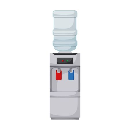 Water cooler vector icon.Cartoon vector isolated on white background water cooler.