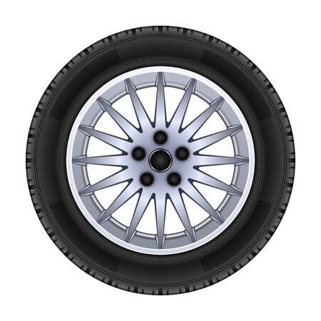 Wheel vector icon.Realistic vector icon isolated on white background wheel.