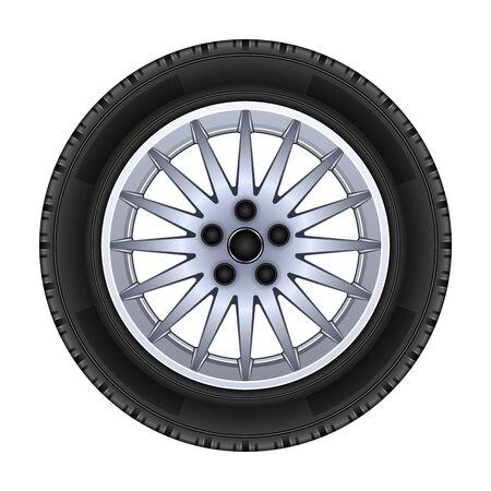 Rad-Vektor-Symbol. Realistische Vektor-Symbol auf weißem Hintergrund-Rad isoliert.