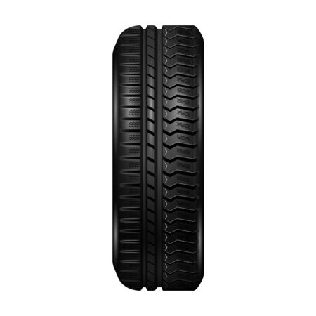 Car tire vector icon.Realistic vector icon isolated on white background car tire.