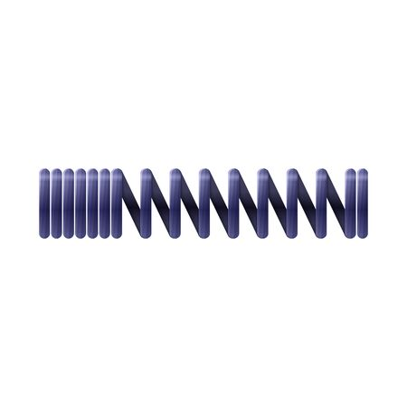 Isolated object of coil and metal sign. Graphic of coil and steel stock symbol for web.