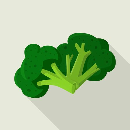 Isolated object of broccoli and cabbage logo. Set of broccoli and doodle stock vector illustration.