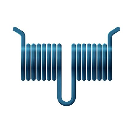 Vector design of coil and detail logo. Web element of coil and metal vector icon for stock.