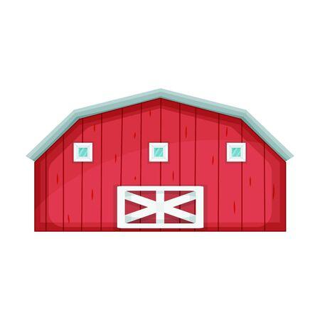 Barn vector icon.Cartoon vector icon isolated on white background barn. Vettoriali