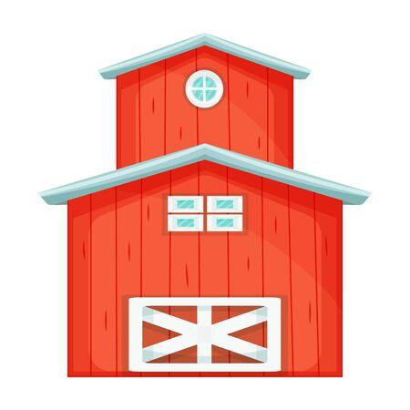 Barn vector icon.Cartoon vector icon isolated on white background barn. Vektorgrafik