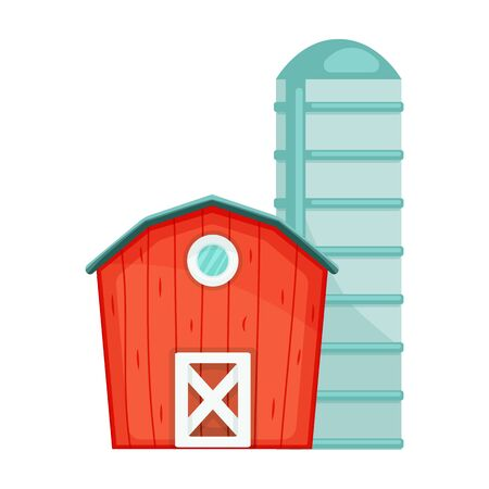 Barn vector icon.Cartoon vector icon isolated on white background barn.