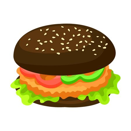 Burger vector icon.Cartoon vector icon isolated on white background burger.
