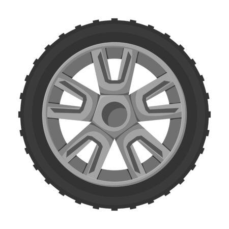 Wheel car vector icon.Cartoon vector icon isolated on white background wheel car. Vektorgrafik