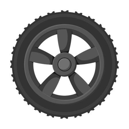 Wheel car vector icon.Cartoon vector icon isolated on white background wheel car.