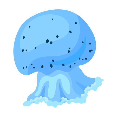Jellyfish vector icon.Cartoon vector icon isolated on white background jellyfish.