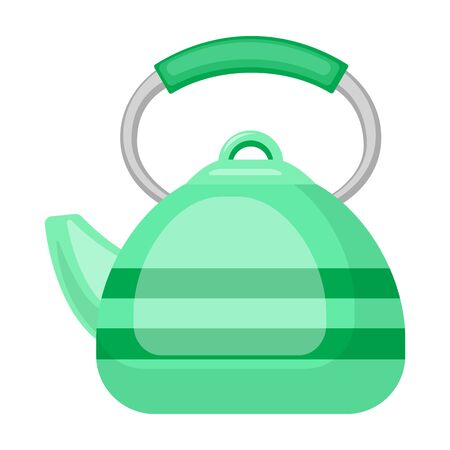 Kettle vector icon.Cartoon vector icon isolated on white background kettle. Illustration