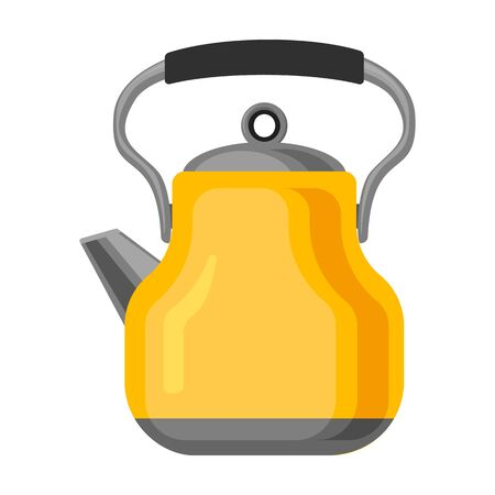 Kettle vector icon.Cartoon vector icon isolated on white background kettle.