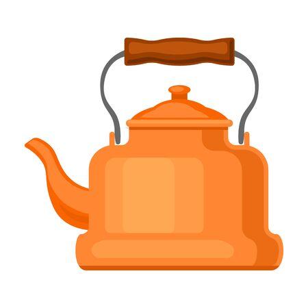 Kettle vector icon.Cartoon vector icon isolated on white background kettle. Ilustracje wektorowe