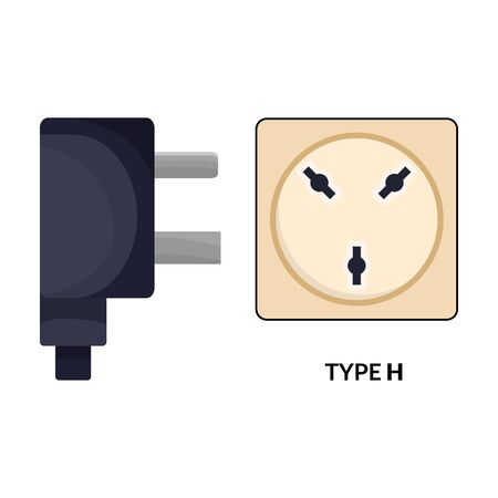 Socket vector icon.Cartoon vector icon isolated on white background socket.