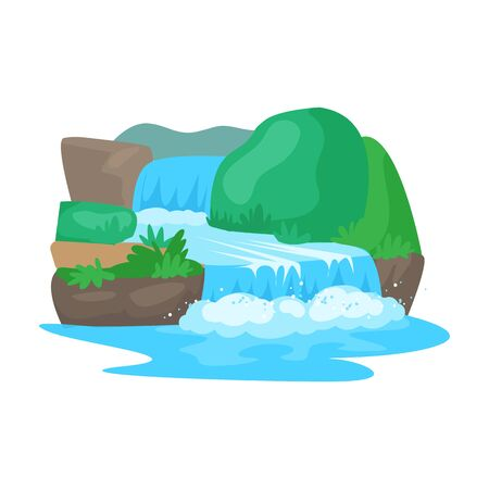 Waterfall vector icon.Cartoon vector icon isolated on white background waterfall.