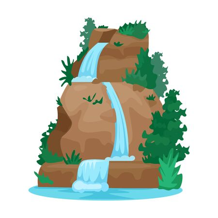 Waterfall vector icon.Cartoon vector icon isolated on white background waterfall. Vektorgrafik