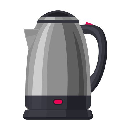 Electricity kettle vector icon.Cartoon vector icon isolated on white background electricity kettle.