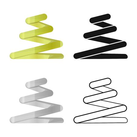 Vector illustration of coil and detail sign. Web element of coil and spiral stock symbol for web. Ilustrace