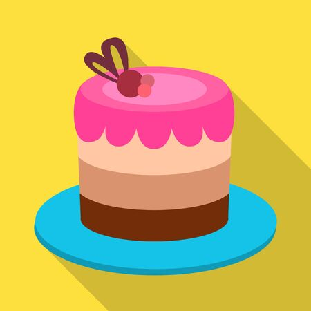 Isolated object of cake and celebration icon. Graphic of cake and chocolate stock symbol for web.