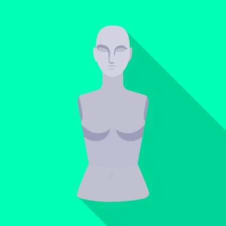 Isolated object of dummy and torso . Web element of dummy and female stock vector illustration.