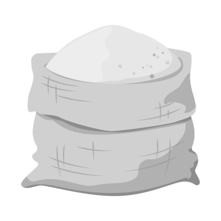 Vector illustration of bag and sugar  . Web element of bag and sack stock vector illustration.