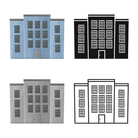 Vector illustration of prison and building symbol. Graphic of prison and jailhouse stock vector illustration.