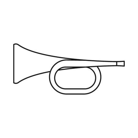 Vector illustration of trumpet and music icon. Graphic of trumpet and orchestra stock vector illustration.