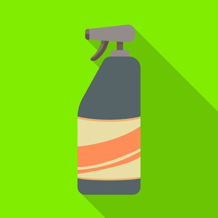 Isolated object of bottle and wash logo. Set of bottle and shampoo vector icon for stock.