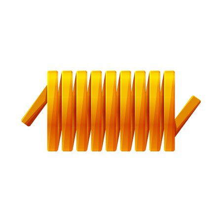 Isolated object of detail and coil sign. Graphic of detail and energy stock vector illustration.