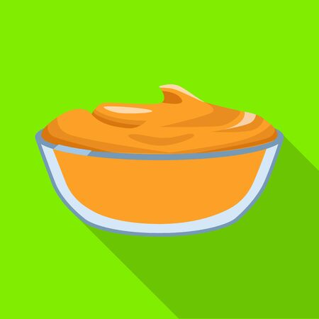 Vector design of bowl and peanut icon. Collection of bowl and butter vector icon for stock.