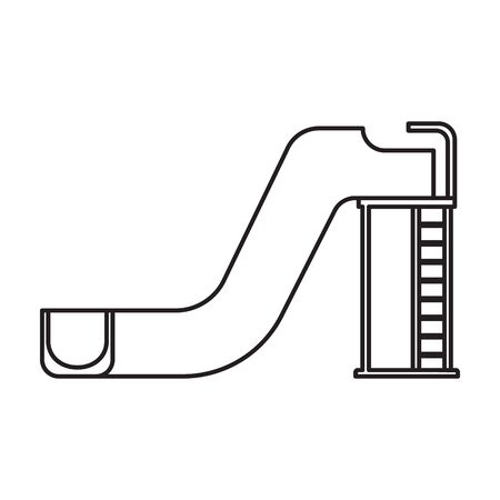 Water slide vector icon.Outline vector logo isolated on white background water slide .