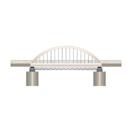 Bridge vector icon.Realistic vector icon isolated on white background bridge. Çizim