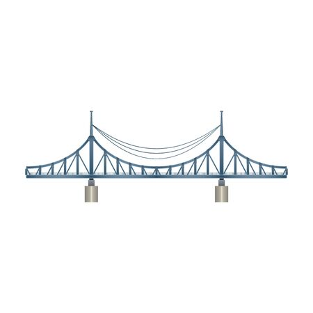 Bridge vector icon.Realistic vector icon isolated on white background bridge.